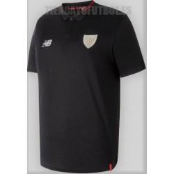 Polo oficial    Athletic Club de Bilbao , negro 2018/19  New  Balance