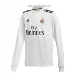Camiseta oficial  1ª manga larga Jr.   Real  Madrid CF 2018/19  ADIDAS