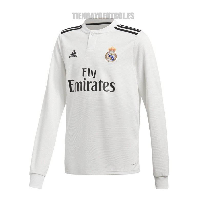 305b14c55d05f Camiseta oficial 1ª manga larga Jr. Real Madrid CF 2018 19 ADIDAS. Loading  zoom