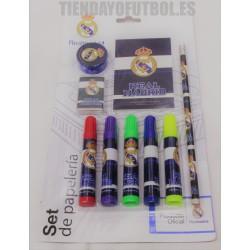 Set Papelería oficial Real Madrid 9 piezas