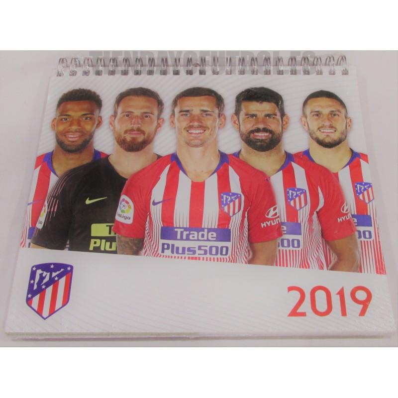 Calendario Atletico Madrid.Calendario Sobremesa 2019 Atletico De Madrid Calendario