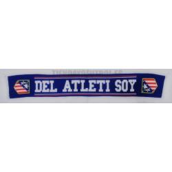 """Bufanda doble oficial Atlético de Madrid """"DEL ATLETI SOY"""" Azul"""