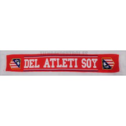 """Bufanda doble oficial Atlético de Madrid """"DEL ATLETI SOY"""" Roja"""