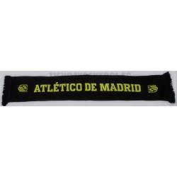 Bufanda oficial doble Atlético de Madrid , polar negra