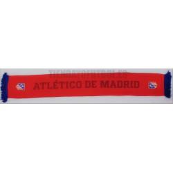 Bufanda oficial doble Atlético de Madrid , polar roja