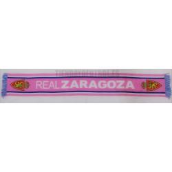 Bufanda oficial del Real Zaragoza rosa