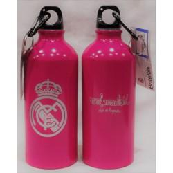 Botella mosquetón aluminio rosa Real Madrid