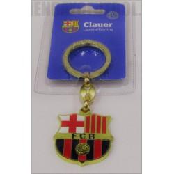 Llavero oficial escudo dorado FC Barcelona