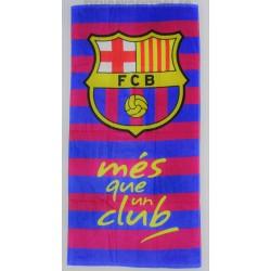 """Toalla oficial Playa FC Barcelona """"MËS QUE UN CLUB"""""""