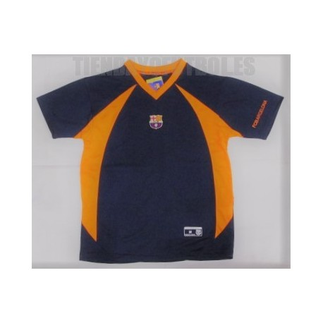 Camiseta oficial FC Barcelona paseo azul -naranja