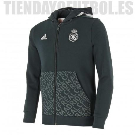 Sudadera /Chaqueta oficial Jr. Real Madrid CF con capucha Adidas