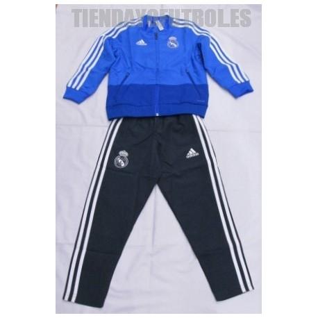 Chándal oficial niño 2018/19 Real Madrid CF azul, Adidas