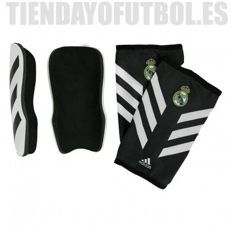 Espinilleras oficial blancas con negro Real Madrid CF Adidas