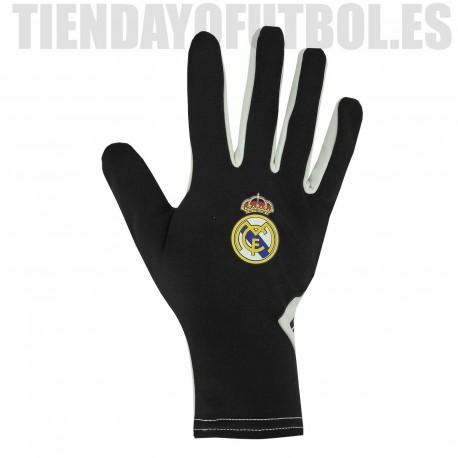 Guantes oficiales entrenamiento Real Madrid CF , BLANCO Y NEGRO Adidas