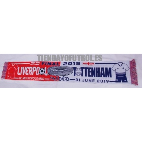 Bufanda final de Champións Liverpool-Tottenham