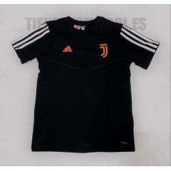 Camiseta Jr. oficial paseo Juventus Adidas 2019/20 negra