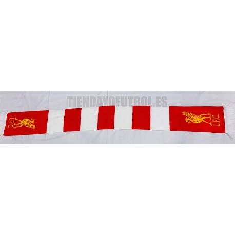 Bufanda oficial lana doble Liverpool rayas