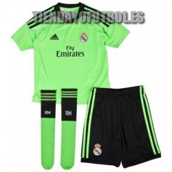 Mini Kit portero oficial Real Madrid CF. verde Adidas