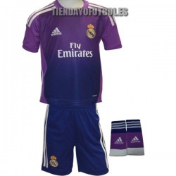 Mini Kit portero oficial Real Madrid CF. morado Adidas