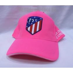 Gorra oficial Atlético de Madrid rosa fluor