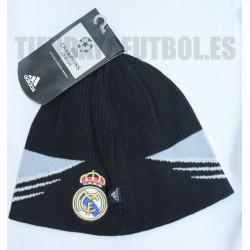 Gorro Lana Gris y negro Champión Real Madrid CF Adidas