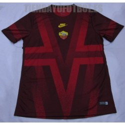 Camiseta oficial prepartido roma 2019/20 negra Nike