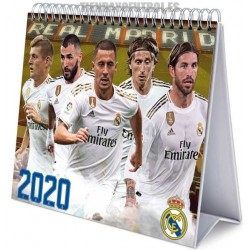 Calendario oficial sobremesa 2020 Real Madrid .