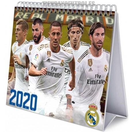 Calendario oficial sobremesa 2020 Real Madrid .