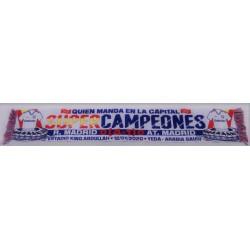 Bufanda campeón supercopa Real Madrid