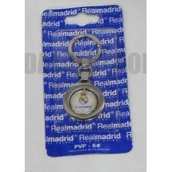 Llavero plateado oficial Real Madrid CF Giratorio