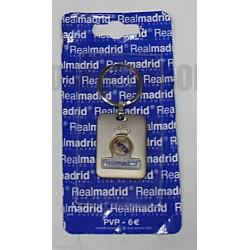 Llavero plateado Real Madrid CF Rectangular