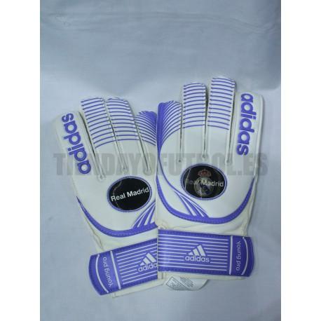 Guantes Portero blancos Real Madrid CF. Adidas