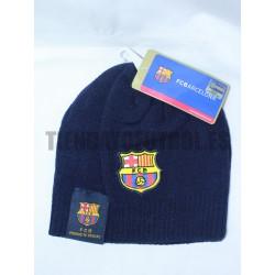 Gorro Lana Azul Marino oficial FC Barcelona