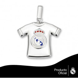 Colgante camiseta plata Real Madrid CF.