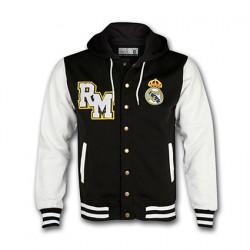 Sudadera Real Madrid negra con mangas blancas