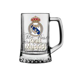 Jarra  cerveza pequeña de cristal oficial Real Madrid CF