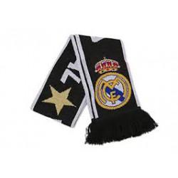 Bufanda Doble Real Madrid Negra Estrella