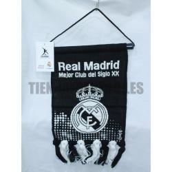 Estandarte pequeño   negro Real Madrid CF