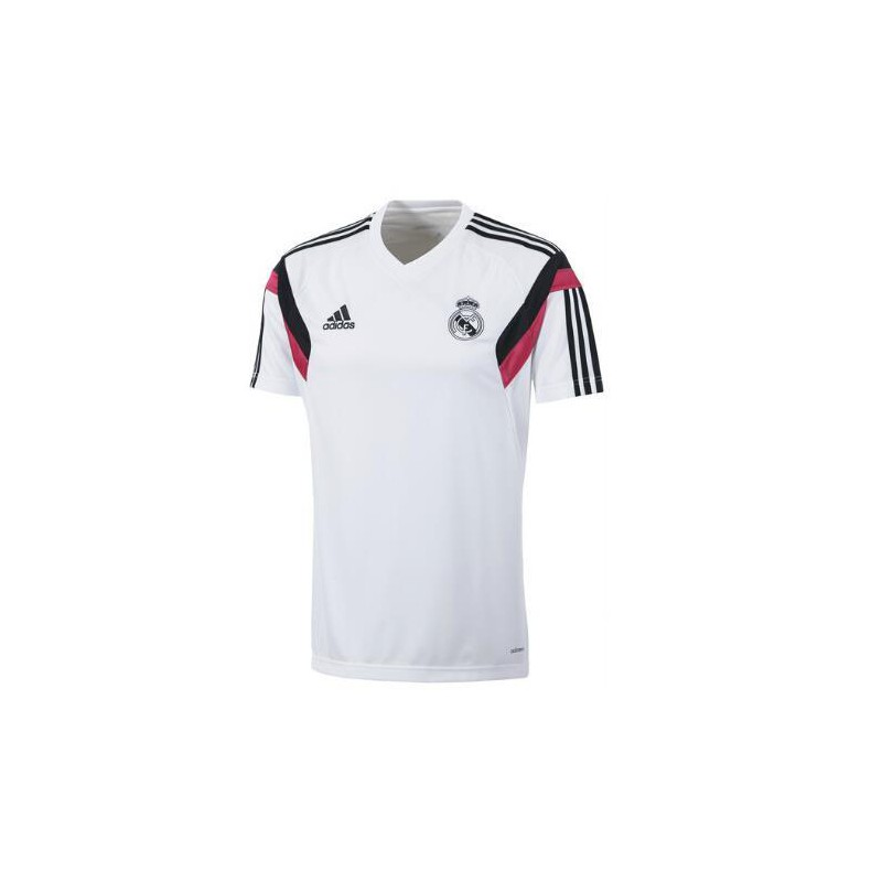 4893a8436d6c9 Camiseta Entrenamiento. Real Madrid CF Adidas blanca. Loading zoom