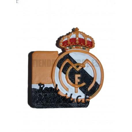 Imán escudo Real Madrid Negro naranja