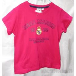 Camiseta  oficial Algodón   Fucsia   Jr. Real Madrid  CF