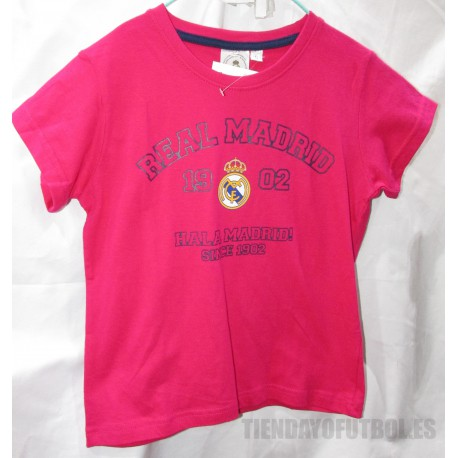 Camiseta Algodón   Fusia   Jr. Real Madrid  CF
