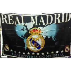 Bandera Real Madrid CF negra con mapa mundi. AGOTADA EN LA ACTUALIDAD.