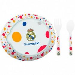 Vajilla infantil del real madrid juego plato cubiertos for Outlet vajillas madrid
