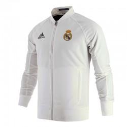 Sudadera blanca Real Madrid CF  Adidas
