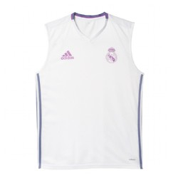 NUEVO Camiseta Entrenamiento.  s/ manga  Real Madrid CF  2016/17 Adidas blanca