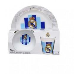 Set desayuno (vaso,plato y tazón)  Real Madrid CF