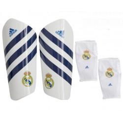Espinilleras oficial blancas con azul Real Madrid CF Adidas