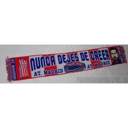 """Bufanda Atlético """"nunca dejes de creer""""."""