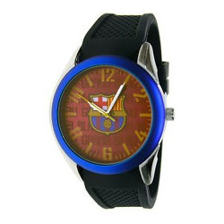 Reloj FC Barcelona Correa negra esfera grana